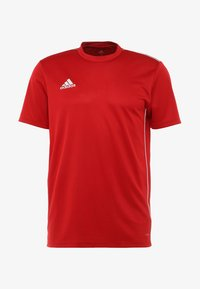 adidas Performance - CORE 18 - T-shirt med print - powred/white - 3