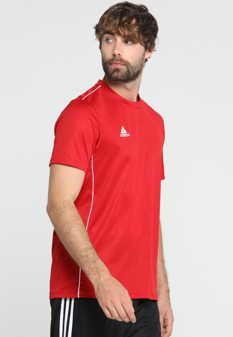 adidas Performance - CORE 18 - Print T-shirt - powred/white