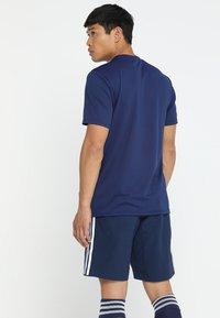 adidas Performance - CORE 18 - Triko spotiskem - drak blue/white - 2