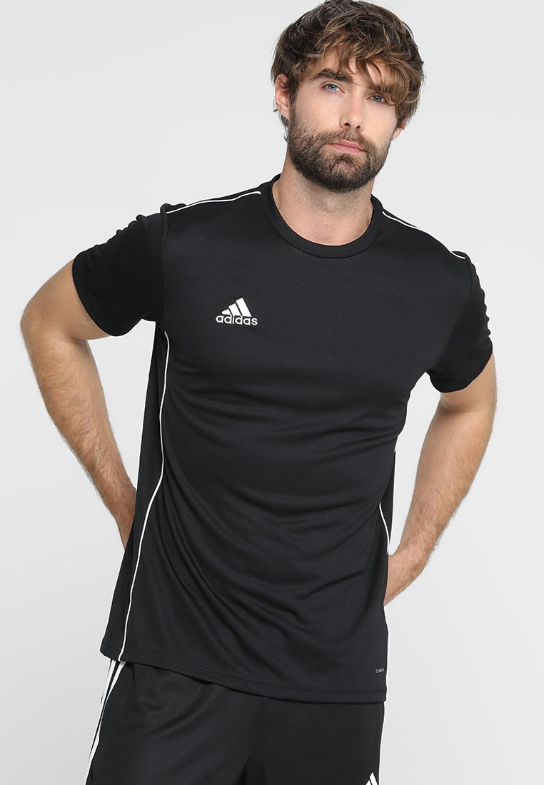 adidas Performance - CORE 18 - T-shirt med print - black/white