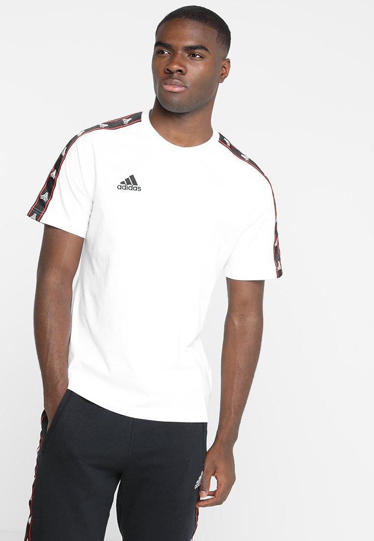 adidas Performance - TANGO TAPE TEE - Camiseta estampada - white