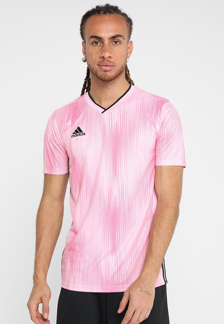 adidas Performance - T-shirt med print - pink/black