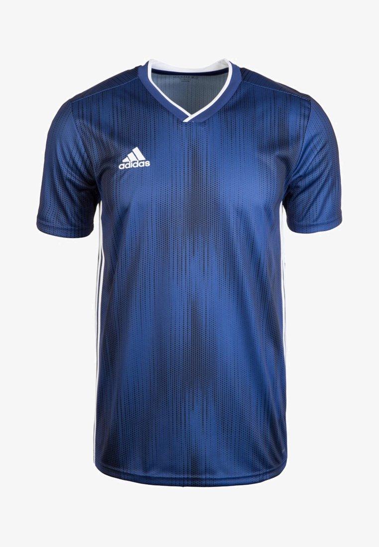 adidas Performance - Print T-shirt - dark blue/white