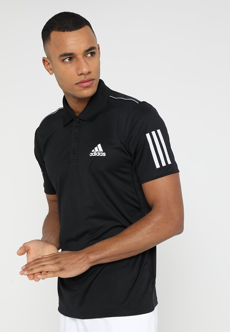 adidas Performance - CLUB - Sports shirt - black/white