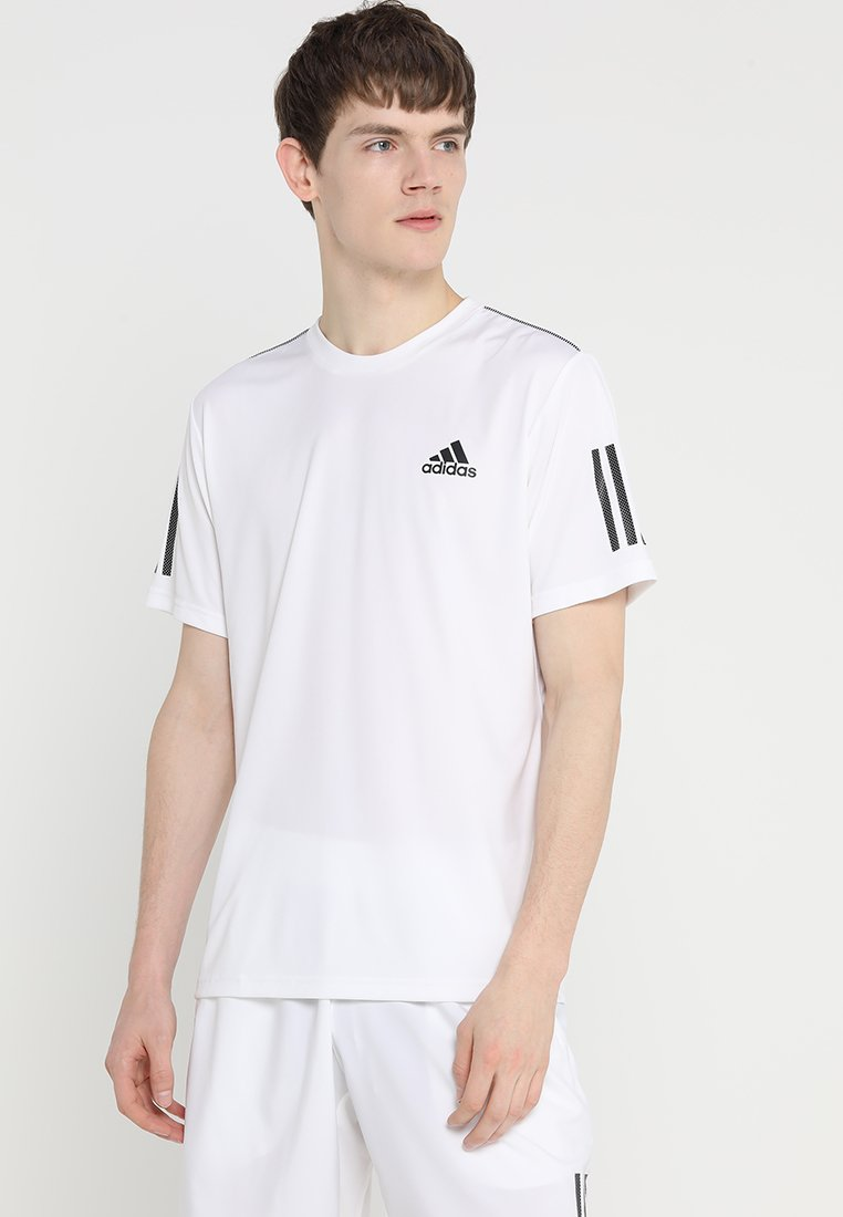adidas Performance - CLUB TEE - Camiseta estampada - white/black