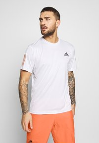 adidas Performance - CLUB TEE - T-shirt imprimé - grey - 0