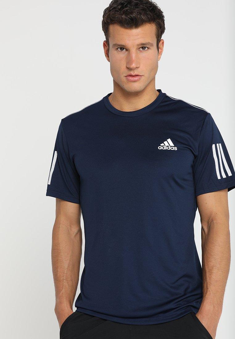 adidas Performance - CLUB TEE - T-shirt print - collegiate navy/white