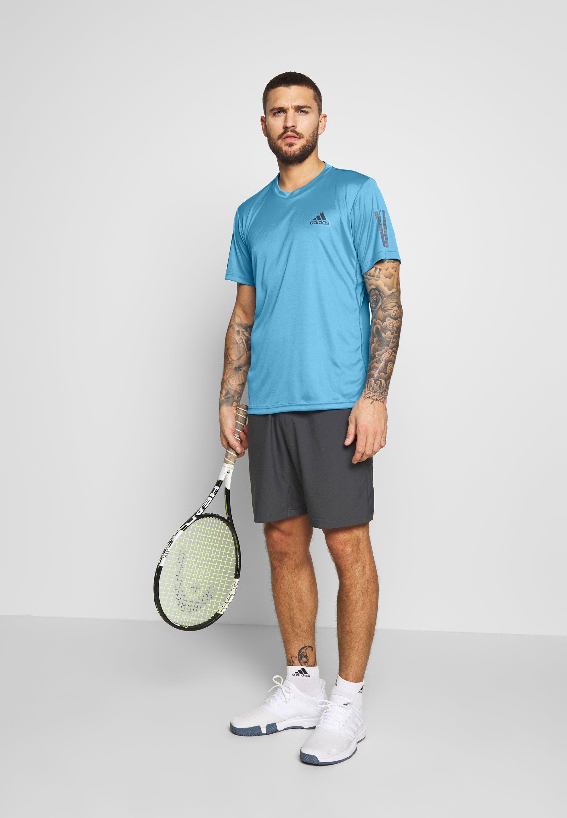 Adidas Performance Club Tee - T-shirts Print Blue