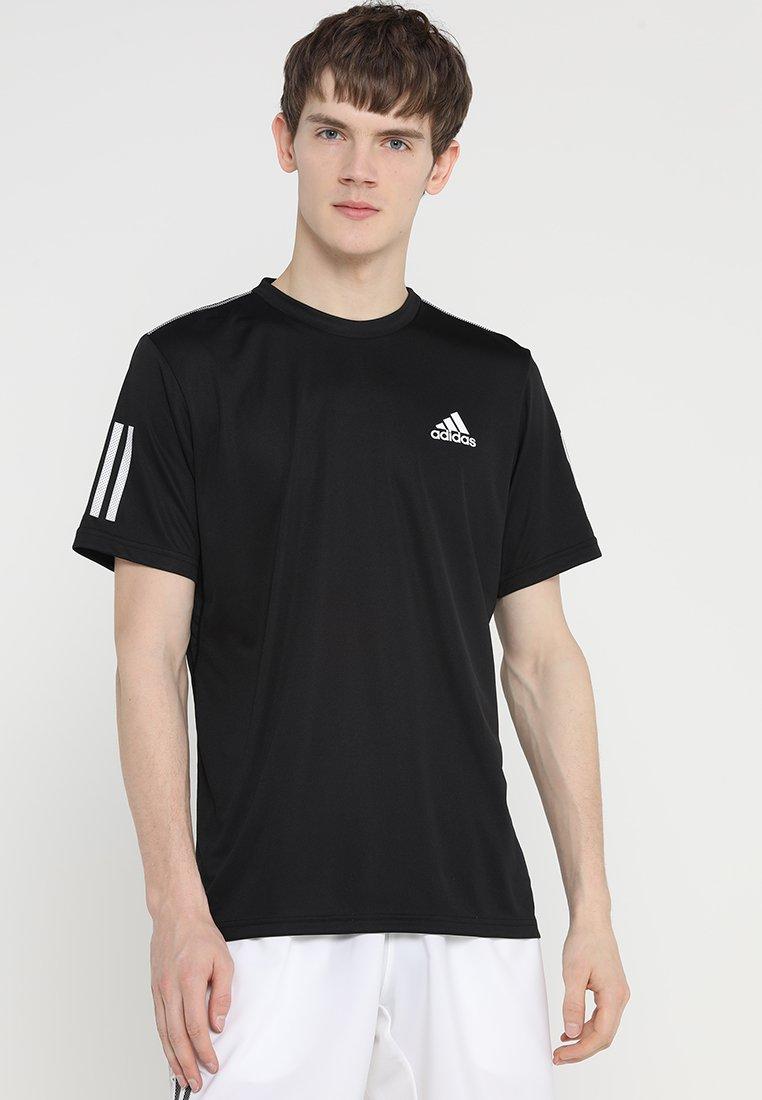 adidas Performance - CLUB TEE - T-Shirt print - black/white