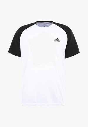 CLUB TEE - T-shirts med print - white/black