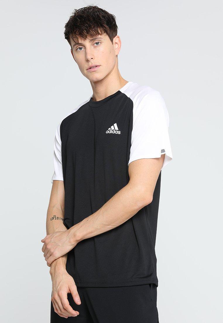 adidas Performance - CLUB TEE - T-shirt basic - black/white