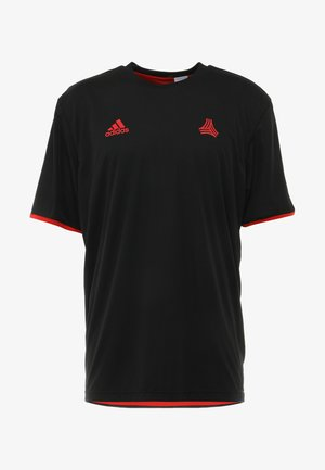 TAN  - T-Shirt print - black/red