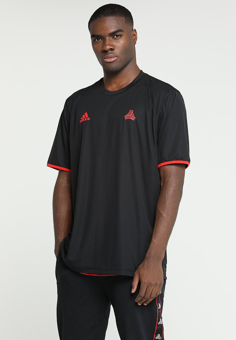 adidas Performance - TAN  - Print T-shirt - black/red