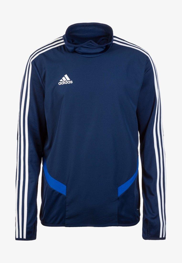 adidas Performance - TIRO19 WARM TOP - Långärmad tröja - dark blue/white