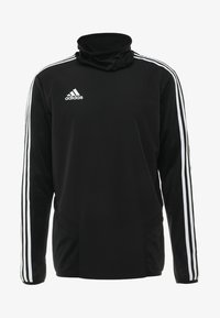 adidas Performance - TIRO19 WARM TOP - Long sleeved top - black/white - 4