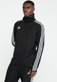 adidas Performance - TIRO19 WARM TOP - Long sleeved top - black/white - 0