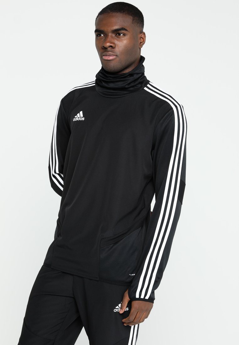 adidas Performance - TIRO19 WARM TOP - Long sleeved top - black/white