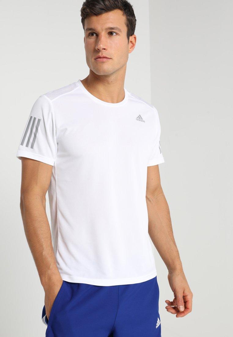 adidas Performance - OWN THE RUN TEE - Print T-shirt - white/silver