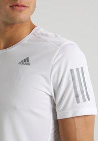 adidas Performance - OWN THE RUN TEE - Print T-shirt - white/silver - 6