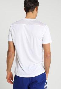 adidas Performance - OWN THE RUN TEE - Print T-shirt - white/silver - 2