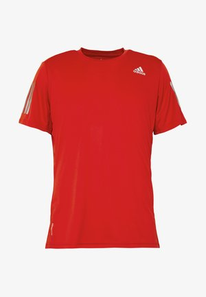 OWN THE RUN TEE - Print T-shirt - scarlet