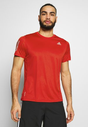 OWN THE RUN TEE - Triko s potiskem - scarlet
