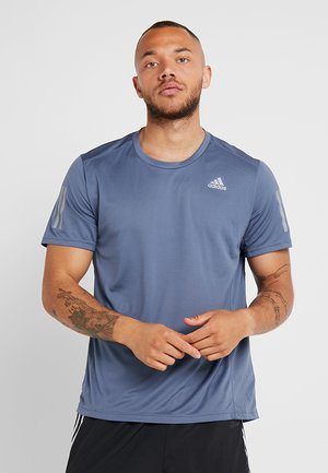 OWN THE RUN TEE - T-shirt imprimé - blue