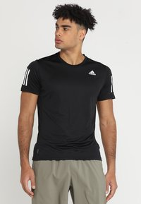 adidas Performance - OWN THE RUN TEE - T-shirts print - black/white - 0