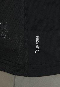 adidas Performance - OWN THE RUN TEE - T-shirt print - black/white - 5