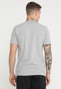 adidas Performance - MUST HAVES SPORT REGULAR FIT T-SHIRT - T-shirt med print - medium grey heather/black - 2