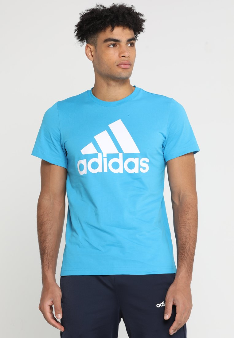 adidas Performance - MUST HAVES SPORT REGULAR FIT T-SHIRT - T-shirt con stampa - shock cyan