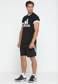 adidas Performance - TEE - Print T-shirt - black/white - 1