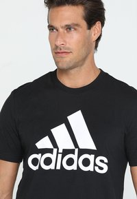 adidas Performance - TEE - Print T-shirt - black/white - 4