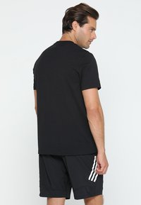 adidas Performance - TEE - Print T-shirt - black/white - 2