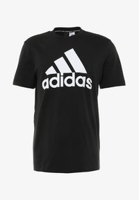 adidas Performance - TEE - Print T-shirt - black/white - 3