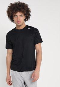 adidas Performance - T-shirt imprimé - black - 0