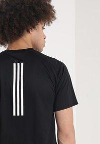 adidas Performance - T-shirt imprimé - black - 4
