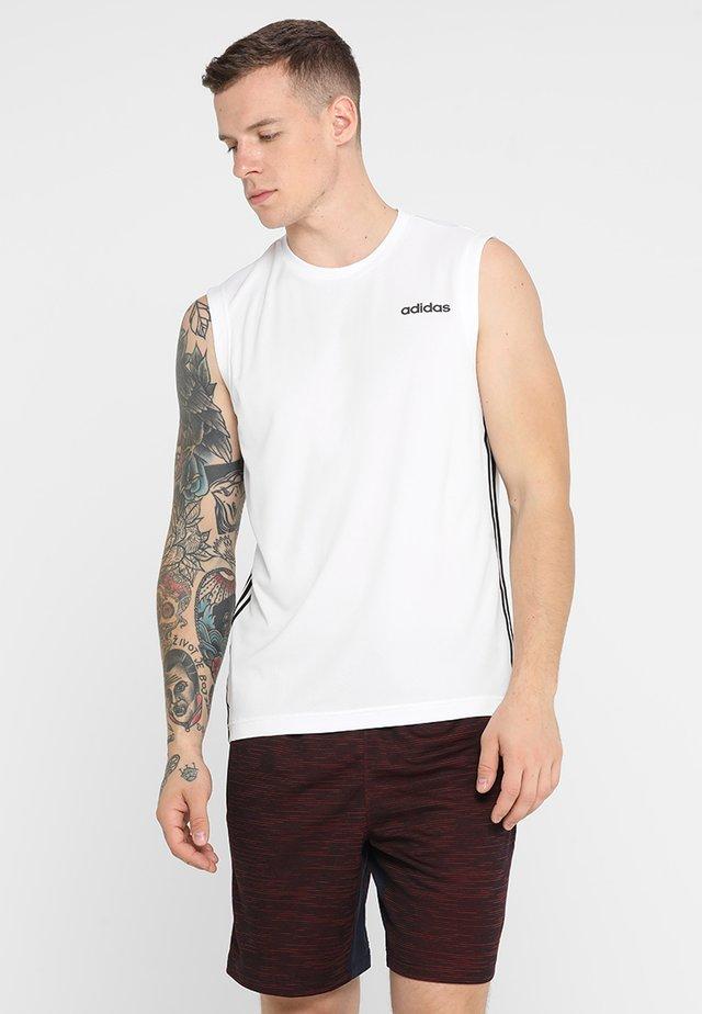 3STRIPES AEROREADY SLEEVELESS T-SHIRT - T-shirt sportiva - white
