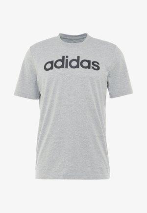 LIN - T-shirt print - medium grey heather/black