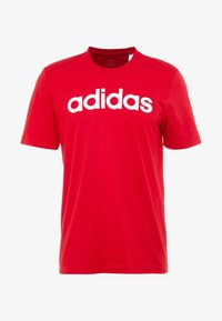 adidas Performance - LIN TEE - T-shirt con stampa - scarle/white - 4
