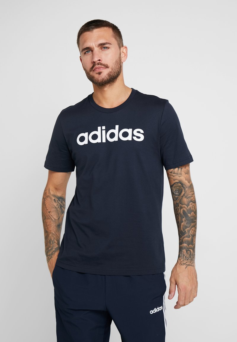 adidas Performance - LIN - T-shirt med print - ink/white