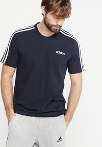 adidas Performance - TEE - T-shirt con stampa - legend ink/white - 0