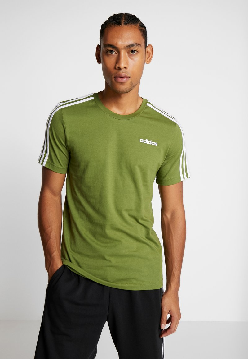 adidas Performance - T-shirt print - tech olive