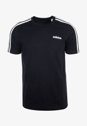 ESSENTIALS SPORTS SHORT SLEEVE TEE - T-shirt imprimé - black/white
