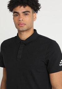 adidas Performance - PLAIN - Poloshirts - black - 4