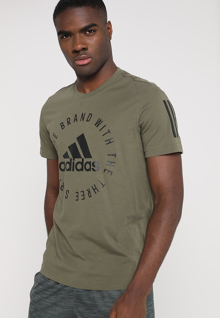 adidas Performance - SID TEE - T-Shirt print - raw khaki