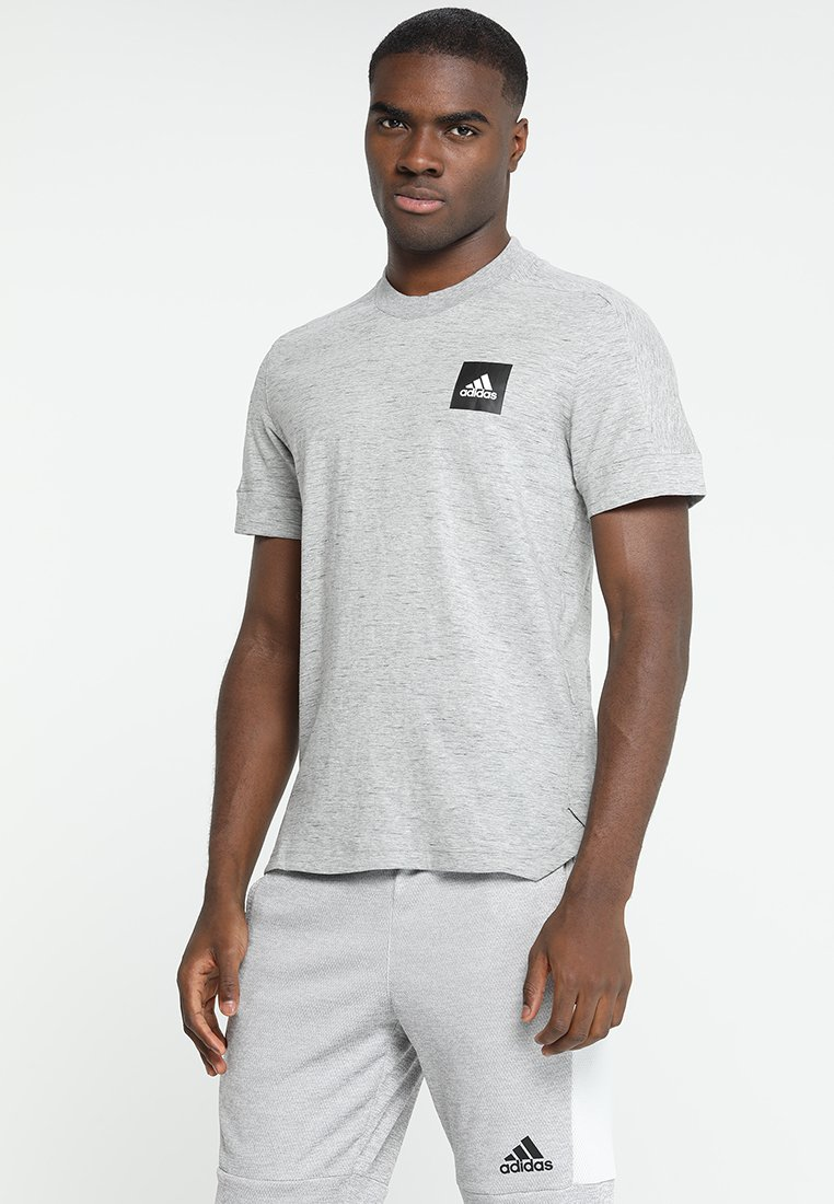 adidas Performance - TEE - T-shirt print - medium grey heather