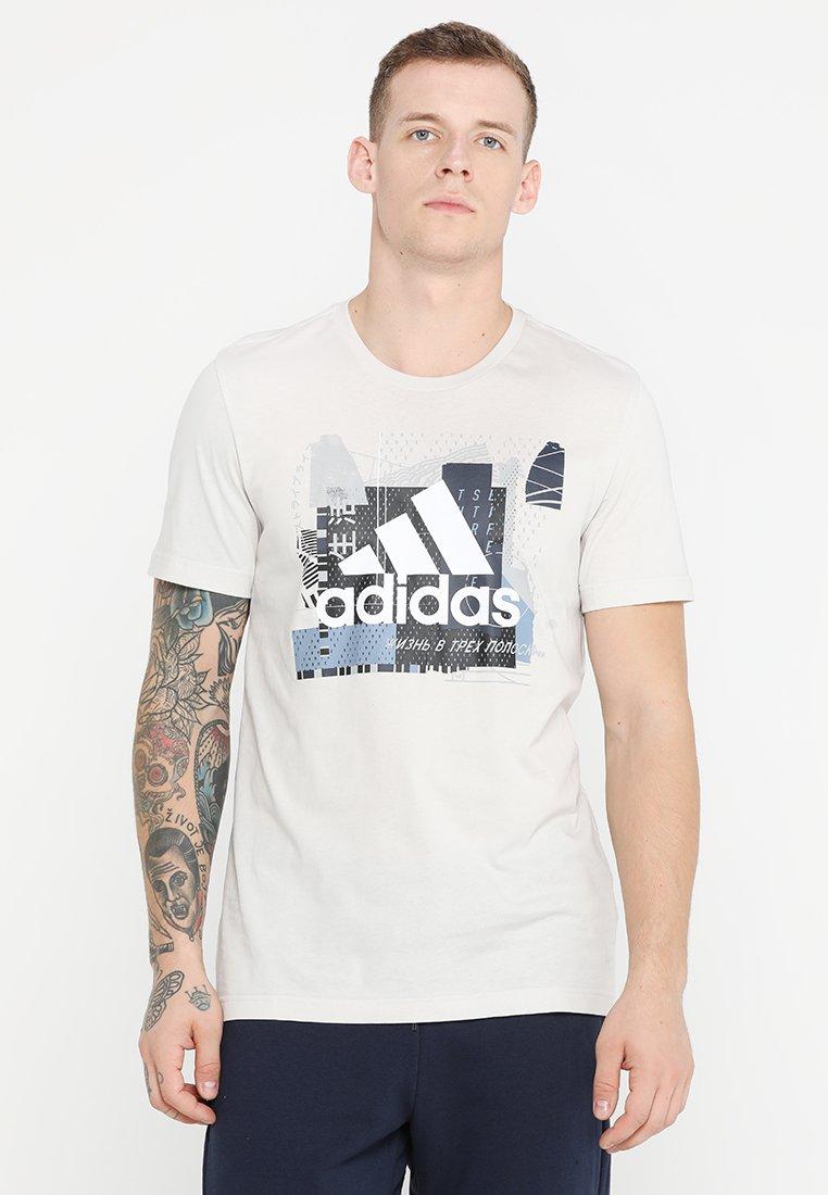 adidas Performance - GRAPH - T-shirt imprimé - raw white
