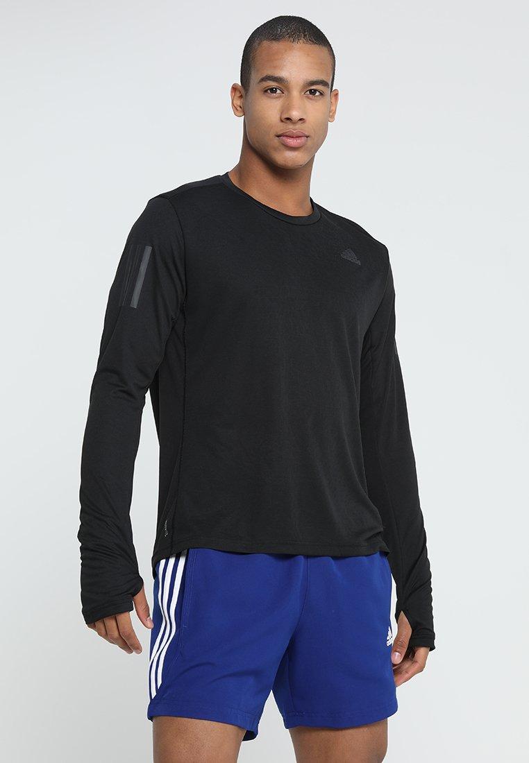 adidas Performance - OWN THE RUN - Langarmshirt - black