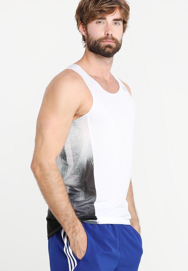 adidas Performance - SINGLET - Sports shirt - white/black